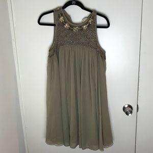 Anthropologie mini A-lie dress w/ beaded neckline